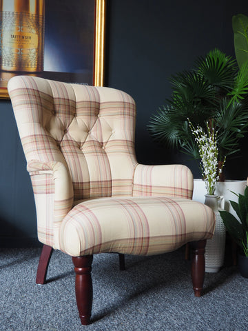 Laura Ashley Home Button Back Armchair Traditional Check