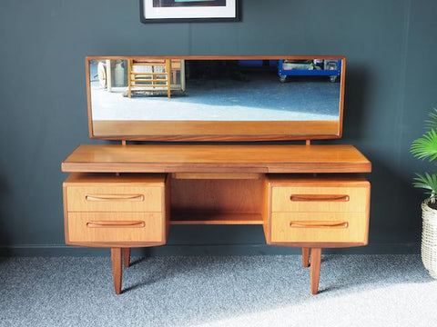 Mid Century Vintage G Plan Fresco Teak Dressing Table / Desk / Sideboard 1960s