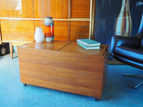 Vintage Retro Teak Box Coffee Table with Great Storage - erfmann-vintage