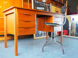Danish Style Teak Writing/Computer Desk Great Storage - erfmann-vintage