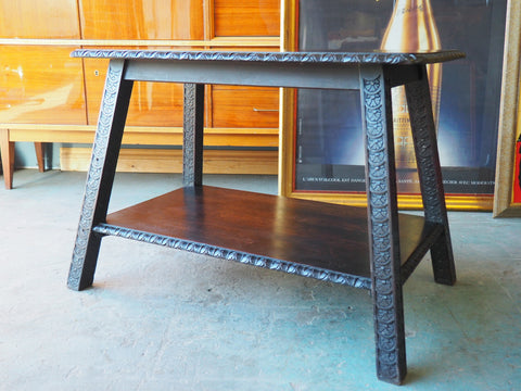 Jacobean Style Dark Oak Occasional or Side Table - erfmann-vintage