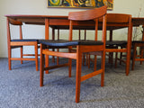 Swedish Mid Century Extending Dining Table & 6 Chairs ULFERTS - erfmann-vintage