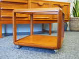 Mid Century G-Plan Cube Coffee Table with Glass Top - erfmann-vintage