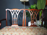 Antique Georgian Style Mahogany Chair Back Settee / Sofa