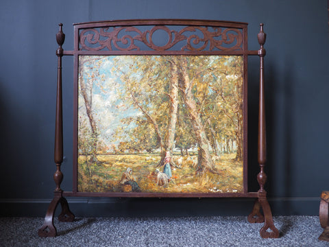 Antique Arts & Crafts Fire-Screen Decorative