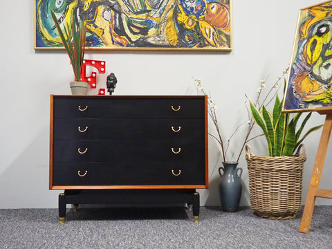 Mid Century G Plan E Gomme Chest of Drawers Repainted (Pair or Separate) - erfmann-vintage