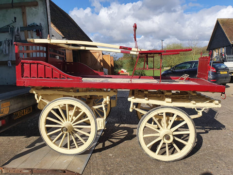 Victorian Four Wheel Harvest Wagon or Charabanc/Carriage Cart