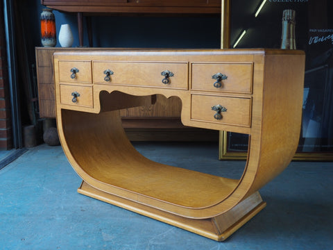 Art Deco Sideboard Birdseye Maple Beautiful Design - erfmann-vintage