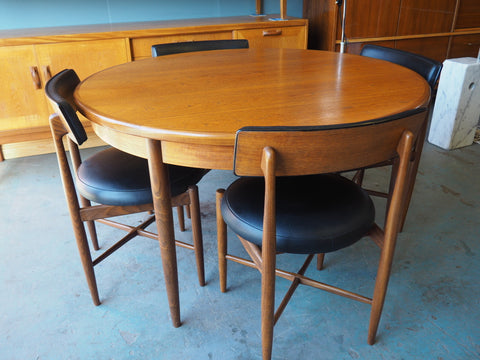 Original Ib Koford Larsen for G-Plan Fresco Dining Table & 4 Chairs - erfmann-vintage