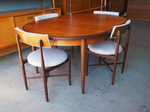Vintage Retro G Plan Dining Table & Four Recovered Chairs Fresco Range - erfmann-vintage