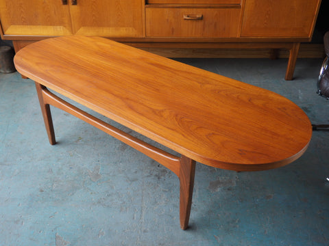 Mid Century G-Plan Low Teak Coffee Table 1960s - erfmann-vintage