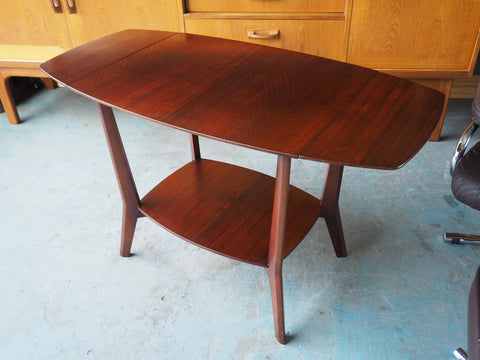 Mid Century Retro Rosewood Side Table with Leaves - erfmann-vintage