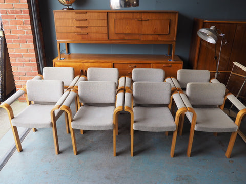 1970s Magnus Olsen Conference 61 Series Armchairs in Oak - erfmann-vintage