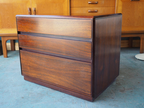 Mid Century Danish Rosewood Set of Three Drawers Filing - erfmann-vintage