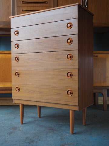Vintage Mid Century Chest of Drawers 1960s - erfmann-vintage