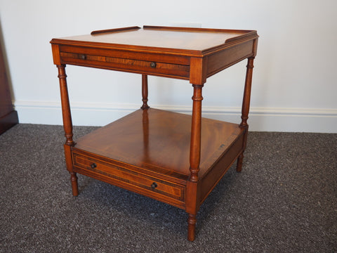 Victorian Crosbanded Rosewood Side Table/Drinks Table - erfmann-vintage