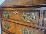 Antique Style Burr-Elm Bureau/Glass fronted Bookcase Reproduction - erfmann-vintage