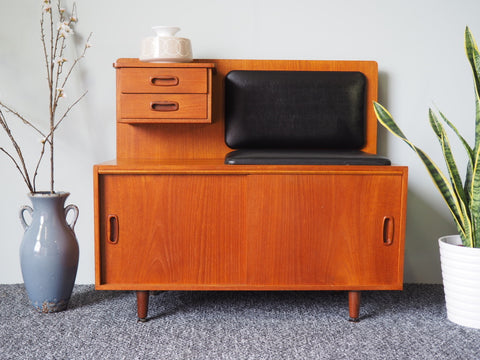 Mid Century NATHAN Retro Telephone Table / Sideboard Storage - erfmann-vintage