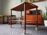 Mid Century Teak Tea Trolley/Hostess Trolley 1960s - erfmann-vintage
