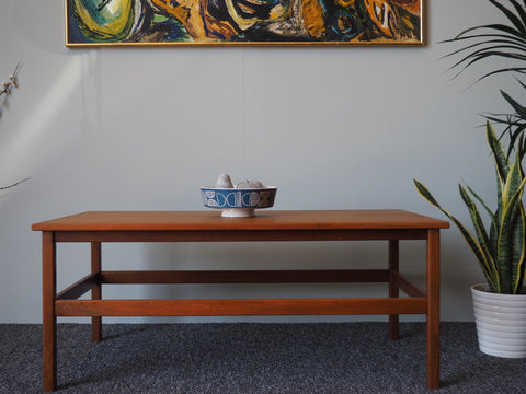 Mid Century Teak Large Coffee Table - erfmann-vintage