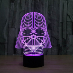 Darth Vader 3D illusion led lamp