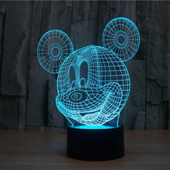 3D illusion LED Mickey Mouse Lamp