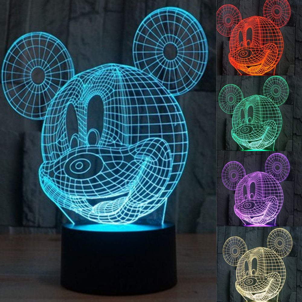 3d disney mickey mouse table lamp shade beauteousgifts 3d illusion led mickey mouse lamp aloadofball Gallery