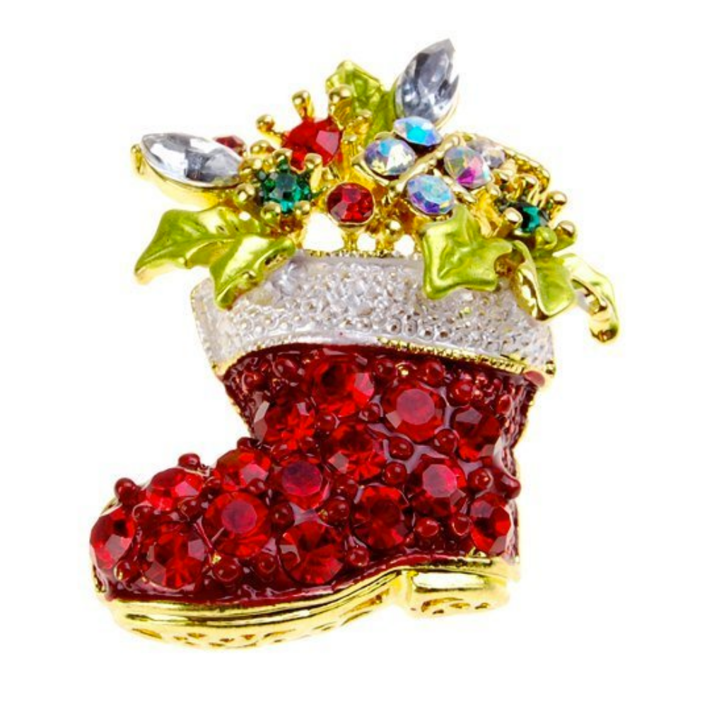 Christmas Boot Brooch