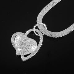 Silver Double Heart Necklace