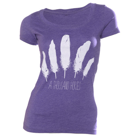 Purple Feather Ladies Tee