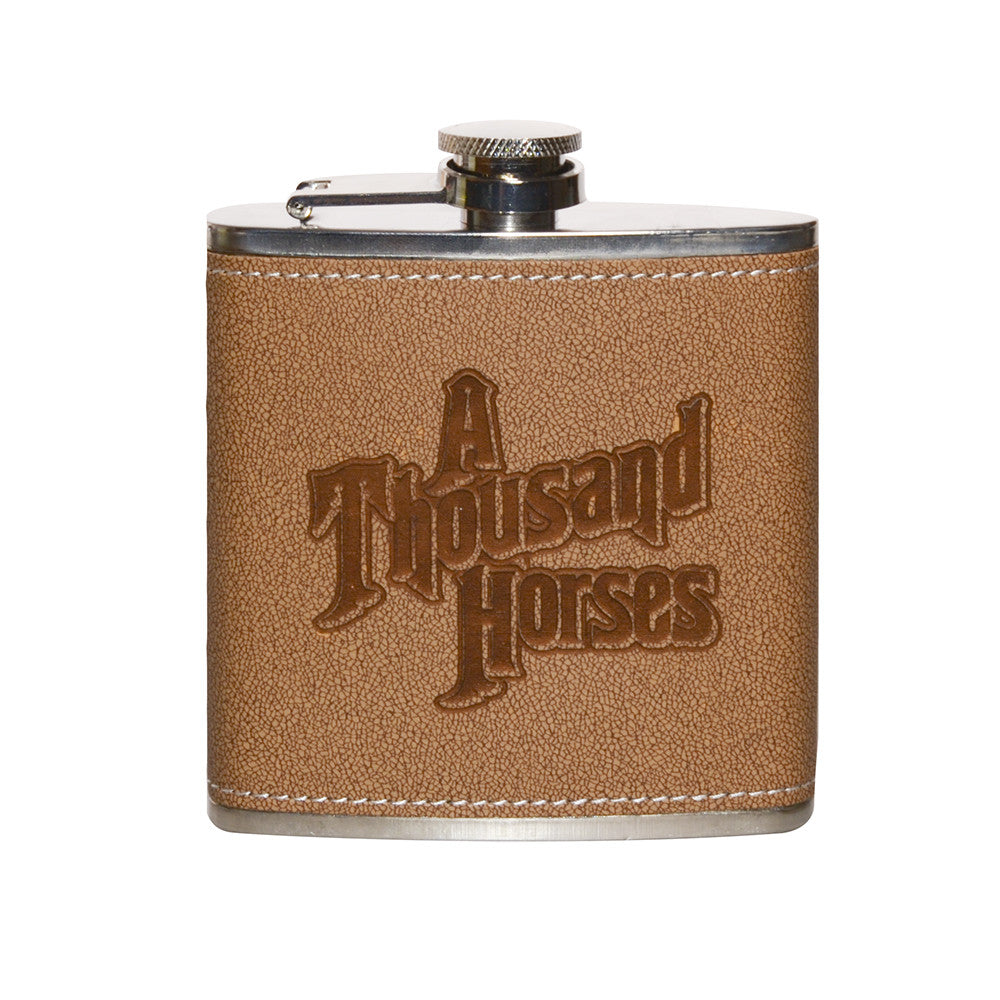 A Thousand Horses Flask