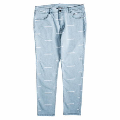 MEN'S PLEASURES TYPHOON DENIM PANT - BLUE