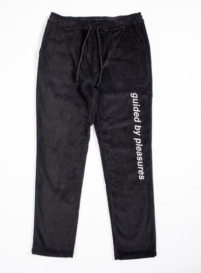 MEN'S PLEASURES GUIDED CORDUROY PANT - BLACK