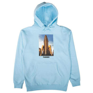 MEN'S PLEASURES SPREAD HOODY - POWDER BLUE