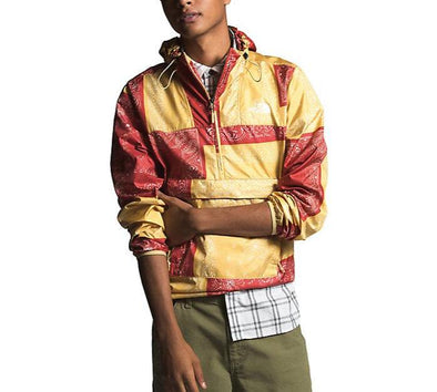 MEN'S TNF NOVELTY FANORAK WINDBREAKER - SUNBAKED RED BANDANA RENEWAL MULTI PRINT