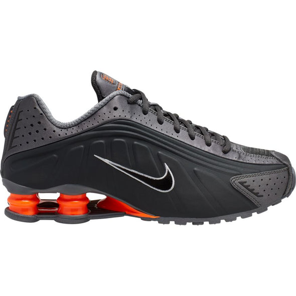 MEN'S NIKE SHOX R4 - ANTHRACITE/TOTAL ORANGE-MTLC COOL GREY