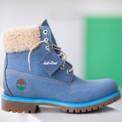BOYS DON C x TIMBERLAND 6-INCH PREMIUM DENIM BOOTS - Blue Denim