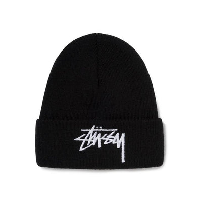 MEN'S STUSSY BIG STOCK CUFF BEANIE - BLACK