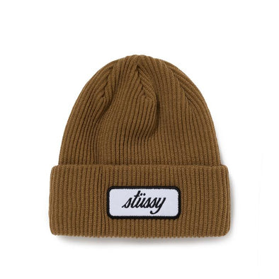 MEN'S STUSSY PATCH CUFF BEANIE - COPPER