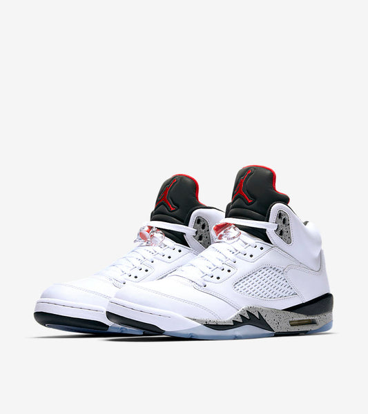 NIEK AIR JORDAN V - WHITE/UNIVERSITY RED