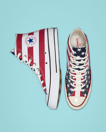CONVERSE CHUCK 70 ARCHIVE RESTRUCTURED HIGH TOP - Red / Wht / Blue