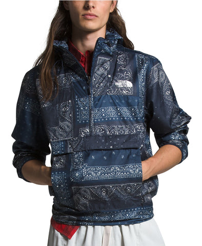 MEN'S TNF NOVELTY FANORAK WINDBREAKER - URBAN NAVY BANDANA RENEWAL PRINT