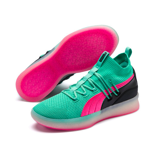 brand new 7f577 f8e94 PUMA CLYDE COURT MEN'S BASKETBALL SHOES - Biscay Green -