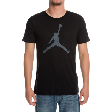 JORDAN MEN'S ICONIC JUMPMAN LOGO T-SHIRT - BLACK