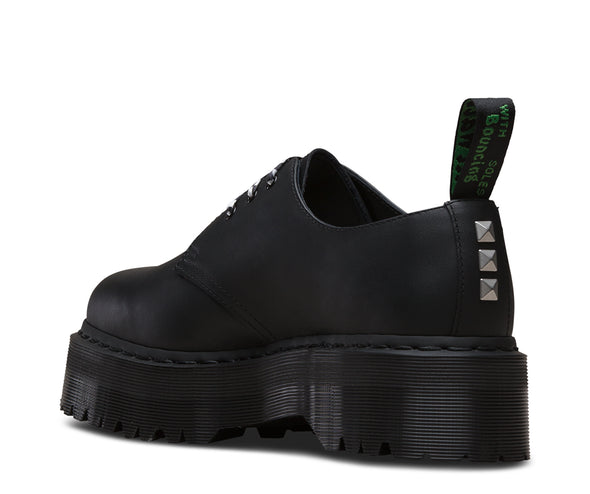DR. MARTEN x PLEASURES 1461 TRIBAL QUAD RETRO - Black