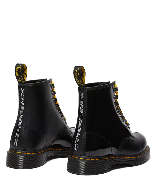 DR MARTENS x PLEASURES PATENT LEATHER 1460 BOOTS