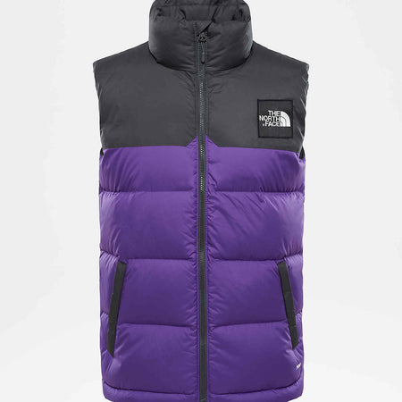 THE NORTH FACE 1996 RETRO NUPTSE VEST - TUMBLEWEED GREEN/NEW TAUPE GREEN MACROFLECK PRINT