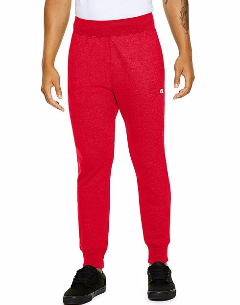 new release good looking promotion CHAMPION LIFE™ MEN'S REVERSE WEAVE® TRIM JOGGER PANTS - TEAM RED SCARLET