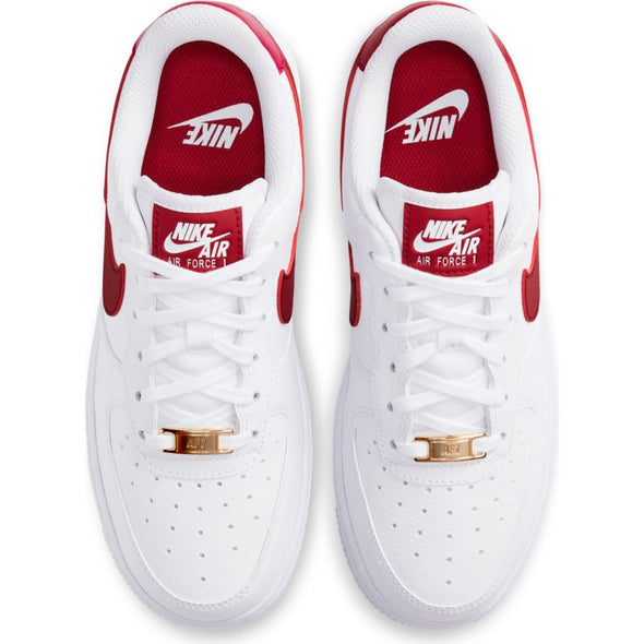 WMNS NIKE AIR FORCE 1 '07 - WHITE/NOBLE RED-WHITE-WHITE