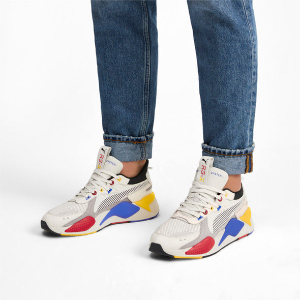 PUMA RS-X Colour Theory Trainers - Tan / Blue / Red / Yellow